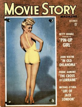 Movie Story magazine with pin-up cover featuring Betty Grable