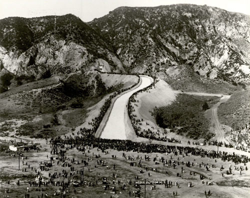 Los Angeles Aqueduct opening day, 1913