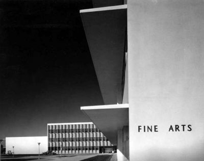 Fine Arts building at San Fernando Valley State College