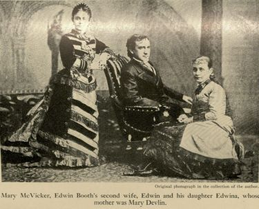 Mary Vicker, Edwin Booth, and daughter, Edwina