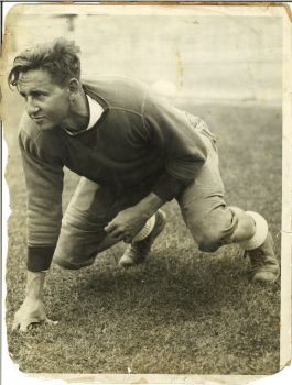 Ted Ellsworth playing football