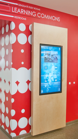 Wayfinding kiosk (touch screen)