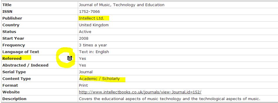 academic music journal