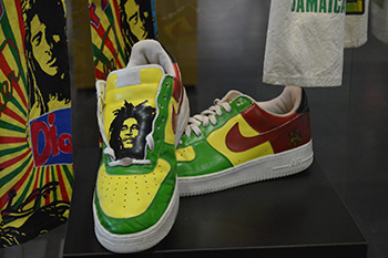 Shoes with Bob Marley and Jamaican Colors