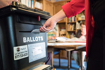 Vote by Mail Drop-off Ballot Box | Oviatt Library