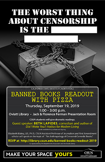 Thumbnail of Event Poster - Banned Books Readout 2019