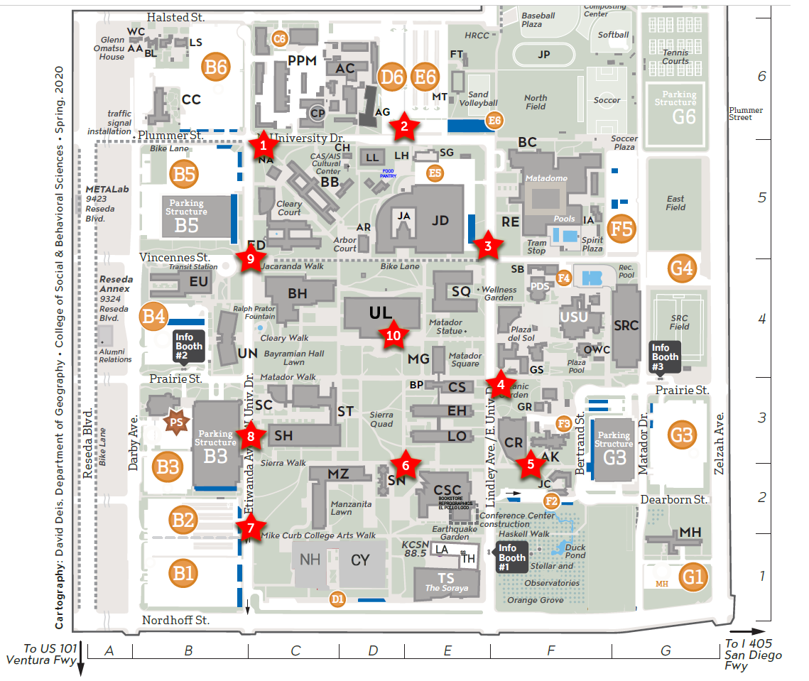 University Library Book Drop Map