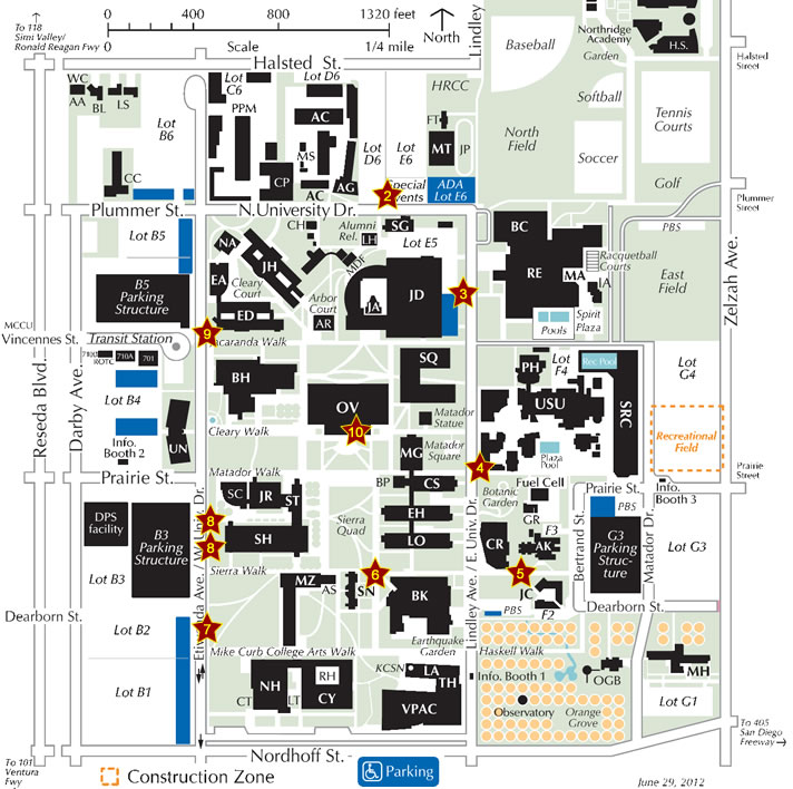 Oviatt Library Book Drop Map