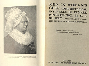 Men in Women's Guise - Special Collections Book