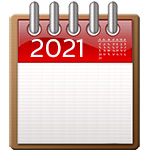 calendar icon with 2021 on it