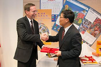 Dean Mark Stover and Chinese Consulate Jian Liu