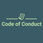 Logo with paper icon and the words Code of Conduct