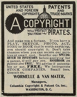 Copyright will protect you from pirates.  Copyright pamphlet.
