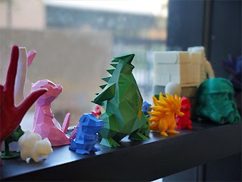3D printed items produced in the Creative Media Studio