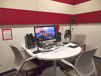 The Creative Media Studio features an Audio Recording Studio