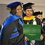 Woman wearing graduate attire
