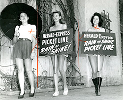Herald Express Picket Line Photo from Exhibition