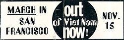 Out of Viet Nam Now - Bumper Sticker