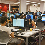 Students Using Computers in the Oviatt Learning Commons