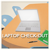 Laptop on a desk - Laptop Checkout