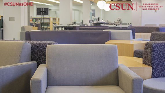 Oviatt Library Zoom Background with couches