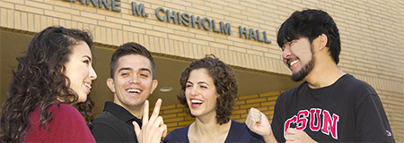 NCOD Students in front of Jeanne M. Chisholm Hall
