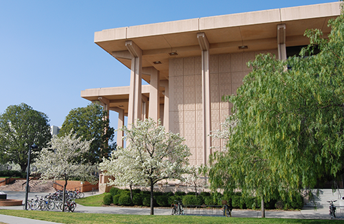 Oviatt Library, view from east wing