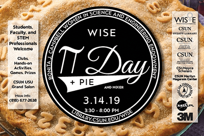 WISE Pi Day + Pie and Mixer postcard