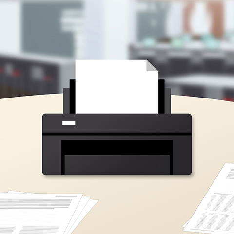 vector image of a printer