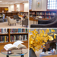 Collage of images from the Reading Room