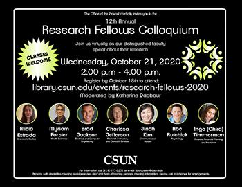 12th Annual Research Fellows Colloquium flier