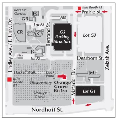 Map to Orange Grove Bistro