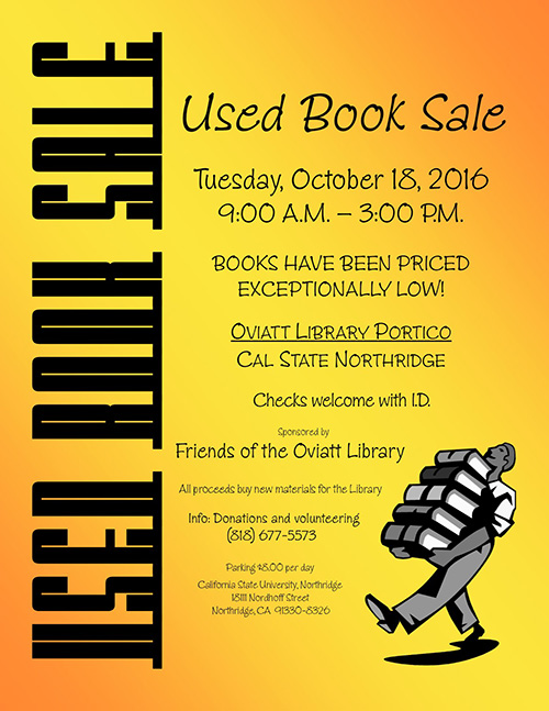 Friends of the Library Book Sale Flier\