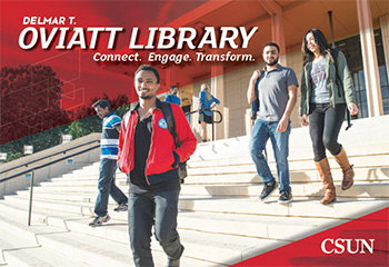 Cover of the Oviatt Library brochure.