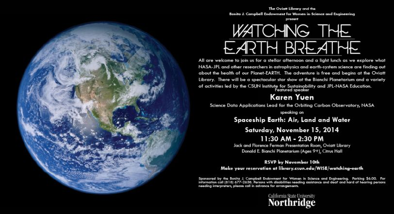 Watching the Earth Breathe Flyer Image